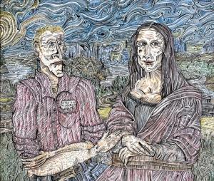 Mona Lisa and me 59x49cm