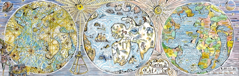 Map 88x28cm
