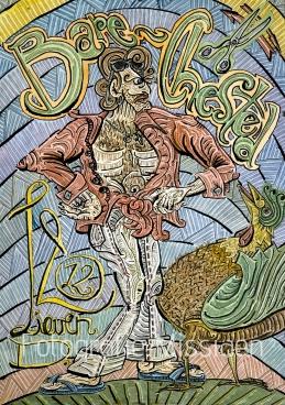 """Bare-Chested. komt uit een boek over hardrock. Robert Plant (Led Zeppelin) wordt er als volgt in beschreven: 'Robert Plant verscheen in een typische """"bare-chested"""" pose.'"""