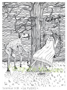 La forêt 29x39cm