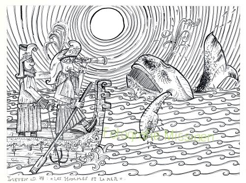 Les hommes et la mer 59x45cm